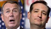 Photo credit - John Boehner, Ted Cruz (Credit: AP/J. Scott Applewhite/Jeff Malet, maletphoto.com) www.salon.com
